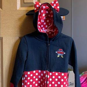 BNWT Toddlers 4T Minnie Jacket with ears and bow